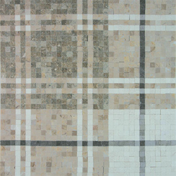 Balmoral Plaid Pistachio Green | Mosaïques en pierre naturelle | AKDO