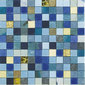 Forza del Colore blu | Leather mosaics | Studio Art