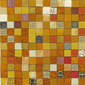 Forza del Colore arancio | Natural leather mosaics | Studio Art