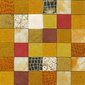 Forza del Colore arancio | Leather mosaics | Studio Art