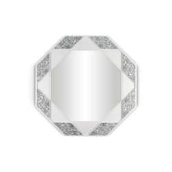 Eight Sided Mirror (black & white) | Mirrors | Lladró
