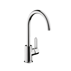 AXOR Uno Single Lever Basin Mixer with high swivel spout without pull-rod DN15 | Wash basin taps | AXOR
