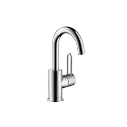 AXOR Uno Single Lever Basin Mixer for hand basins with high swivel spout DN15 | Wash basin taps | AXOR