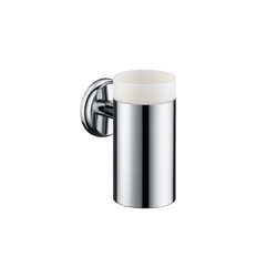 Hansgrohe Logis Classic Ceramic Toothbrush Tumbler with holder | Toothbrush holders | Hansgrohe