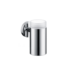 Hansgrohe Logis Glass Toothbrush Tumbler with holder | Toothbrush holders | Hansgrohe