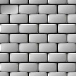 House Stainless Steel 2B | Metal mosaics | Alloy
