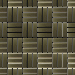 Basketweave Brass Tiles | Mosaïques en métal | Alloy