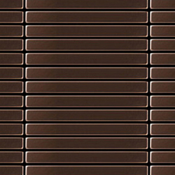 Linear Copper Tiles | Metallmosaike | Alloy