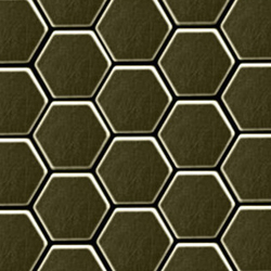 Honey Brass Tiles | Mosaïques métal | Alloy