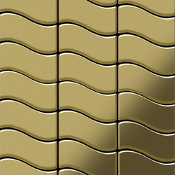 Flux Brass Tiles | Metallmosaike | Alloy