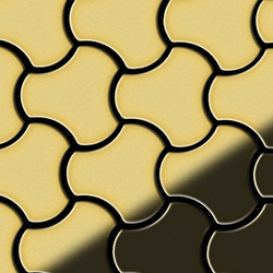 Ubiquity Brass Tiles | Mosaïques en métal | Alloy