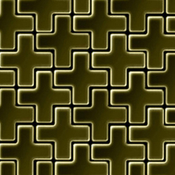 Swiss Cross Brass Tiles | Metall Mosaike | Alloy