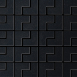 Kink Raw Steel Tiles | Mosaïques | Alloy