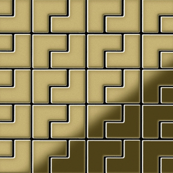 Kink Brass Tiles | Mosaïques | Alloy