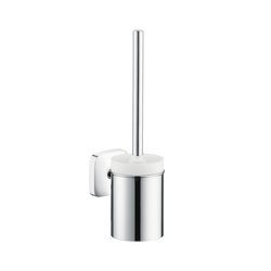Hansgrohe PuraVida Toilet Brush with Ceramic Holder | Toilet brush holders | Hansgrohe
