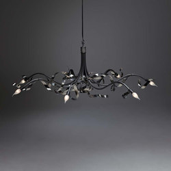 Ruban Plié Chandelier round | General lighting | Jacco Maris