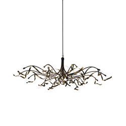 Ruban Plié Chandelier oval | General lighting | Jacco Maris