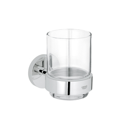 Essentials Glass holder with crystal glass | Porta spazzolini | GROHE