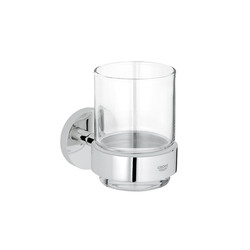 Essentials Glass holder with crystal glass | Portacepillos / portavasos | GROHE