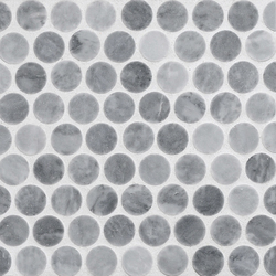 Rounds Flatiron Grey | Mosaïques en pierre naturelle | Complete Tile Collection