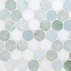 Rounds Marine Blend | Natural stone mosaics | Complete Tile Collection