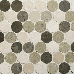 Rounds Olive Blend | Mosaïques en pierre naturelle | Complete Tile Collection
