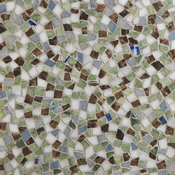 Mosaic Masterworks Cosmos Field-Lazuli Bunting | Mosaïques en pierre naturelle | Complete Tile Collection