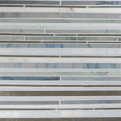 Mosaic Masterworks Random Stripes I | Naturstein Mosaike | Complete Tile Collection