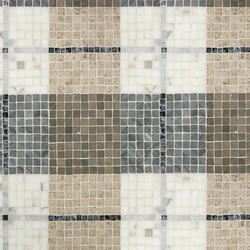 Mosaic Masterworks Tartan Pattern | Mosaïques en pierre naturelle | Complete Tile Collection