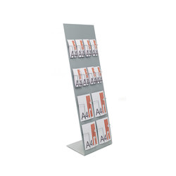 "837 Inclined display ""Alians"" in metal 