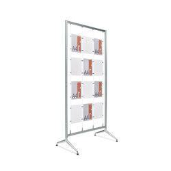 Ten Aluminium frame | Brochure / Magazine display stands | Planning Sisplamo