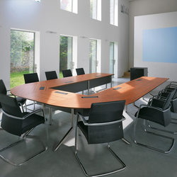 Audience conference table | Multimedia conference tables | Haworth