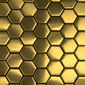 Hexa gold | Mosaïques en métal | The Inox in Color®