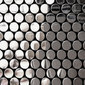Circle black brillante | Metal mosaics | The Inox in Color®