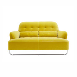 Harry | Small Settee Brilliant-Chromed Sleigh Base Complete Item | Sofas | Ligne Roset