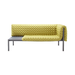 Ruché | 1-Armed Settee Left With Table Surface | Sofas | Ligne Roset