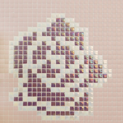 Natural - Roses | Glass mosaics | Hisbalit