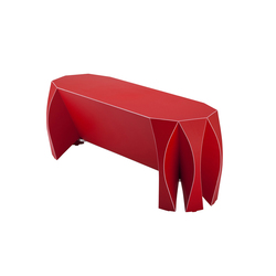 NOOK bench red | Garden benches | VIAL