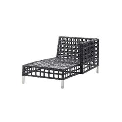 Flow Chaise Lounge Left Module | Sdraio da giardino | Cane-line