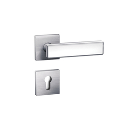 Standard door fittings design 185XI glass inlay | Set di maniglie | HEWI