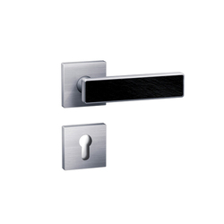 Standard door fittings design 185XI slate inlay | Set di maniglie | HEWI