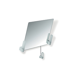 Adjustable tilting mirror with lighting | Wall mirrors | HEWI