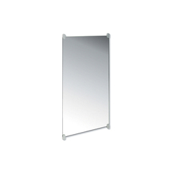 Plate glass mirror (wall mirror with holders) | Wall mirrors | HEWI