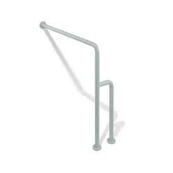 Floor to wall stationary support | Grab rails | HEWI