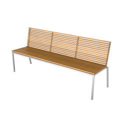 Home Collection Dining | Bench with backrest | Panche da giardino | Viteo