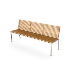 Home Bench with backrest | Bancs de jardin | Viteo