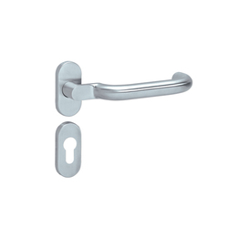 Standard door fittings for framed doors design 114X | Juego picaportes | HEWI