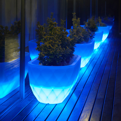 Vases Jardinera Llum | Outdoor floor-mounted lights | Vondom