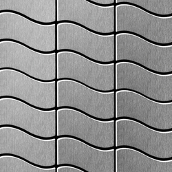 Flux Stainless Steel Brushed Finish | Metal mosaics | Alloy