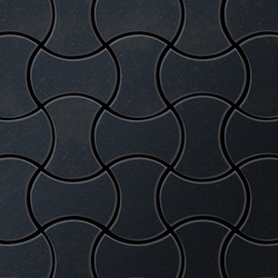 Infinit Raw Steel Tiles | Metallmosaike | Alloy
